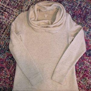 J crew oatmeal cowl neck sweater